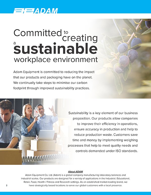 Committed to creating a sustainable workplace environment