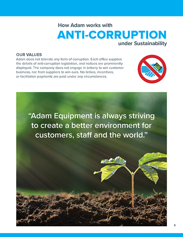 How Adam works with anti-corruption